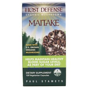 Picture of Host Defence Organic Mushroom Maitake 120 Capsules