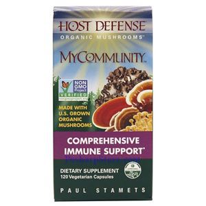 Picture of Host Defence Organic Mushroom MyCommunity 120 Vegetarian Capsules