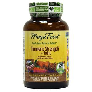 Picture of Megafood Turmeric Strength for Joint 20 Tablets
