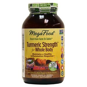 Picture of Megafood Turmeric Strength for Whole Body 120 Tablets