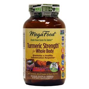 Picture of Megafood Turmeric Strength for Whole Body 90 Tablets