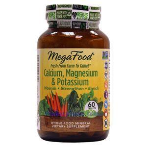 Picture of Megafood Calcium, Magnesium & Potassium 60 Tablets
