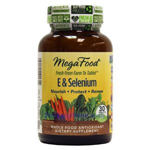 Picture of Megafood E & Selenium 30 Tablets