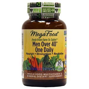 Picture of Megafood Men Over 40 One Daily Multivitamin 30 Tablets