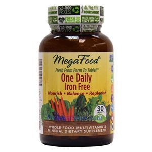 Picture of Megafood One Daily Iron Free Multivitamin 30 Tablets
