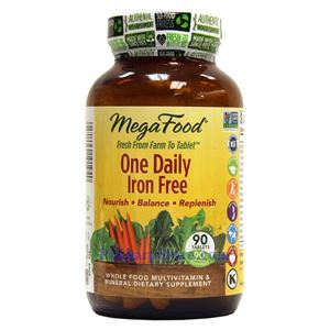Picture of Megafood One Daily Iron Free Multivitamin 90 Tablets