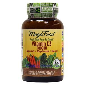Picture of Megafood Vitamin D3 1000 IU 30 Tablets