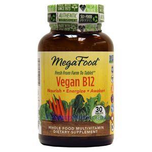 图片 Megafood 牌有机素食维生素B12片 30粒