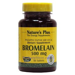 Picture of Nature's Plus Bromelain 500 mg 60 Vegetarian Tablets