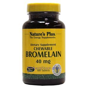 Picture of Nature's Plus Bromelain Chewable 40 mg 180 Vegetarian Tablets
