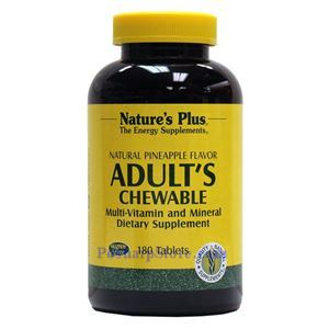 Picture of Nature's Plus Adult's Multi-Vitamin Chewable Pineapple Flavor 180 Tablets