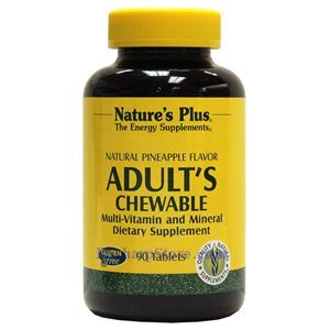 Picture of Nature's Plus Adult's Multi-Vitamin Chewable Pineapple Flavor 90 Tablets