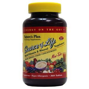 Picture of Nature's Plus Source Of Life Multi-Vitamin & Mineral Supplement 360 Mini Vcaps