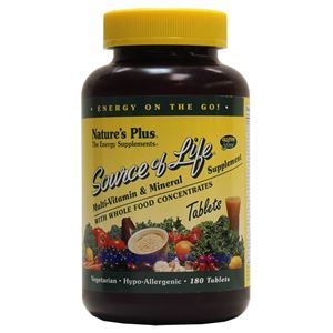 Picture of Nature's Plus Source Of Life Multi-Vitamin & Mineral Supplement 180 Tablets