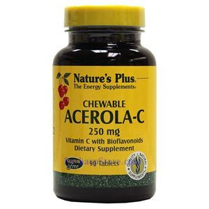 Picture of Nature's Plus  Acerola-C Chewable Vitamin C Complex 250 mg 90 Tablets