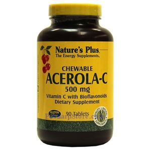 Picture of Nature's Plus  Acerola-C Chewable Vitamin C Complex 500 mg 90 Tablets