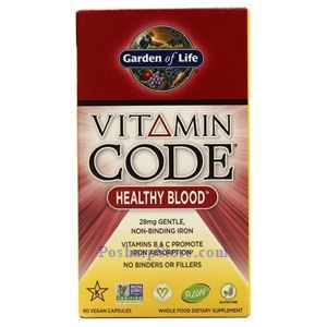 Picture of Garden of Life Vitamin Code Healthy Blood 60 Veg Capsules