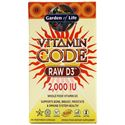 Picture of Garden of Life Vitamin Code Raw D3 2000 IU 60 Veg Capsules
