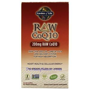 Picture of Garden of Life Vitamin Code Raw CoQ10 200mg 60 Veg Capsules