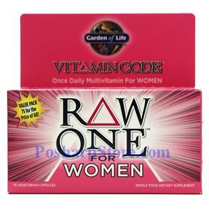 Picture of Garden of Life Raw One for Women Multivitamin 75 Veg Capsules