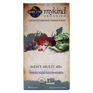 图片 Garden of Life牌mykind有机系列40岁以上男士复合维生素胶囊 60粒