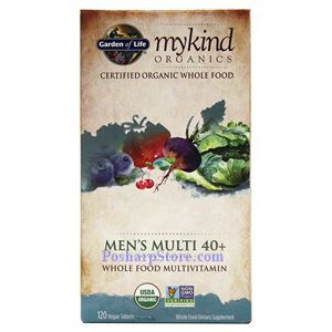 Picture of Garden of Life mykind Organics Men's Multi 40+ Multivitamins 120 Veg Capsules