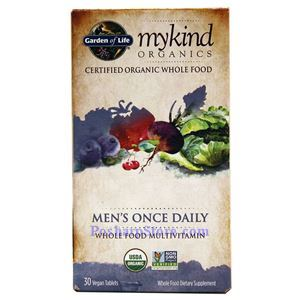 Picture of Garden of Life mykind Organics Men's Once Daily Whole Food Multivitamins 30 Veg Capsules