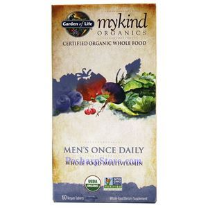 Picture of Garden of Life mykind Organics Men's Once Daily Whole Food Multivitamins 60 Veg Capsules