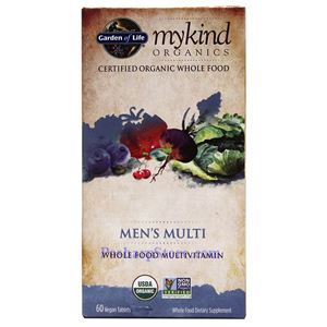Picture of Garden of Life mykind Organics Men's Multi Whole Food Multivitamins 60 Veg Tablets
