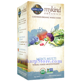 Picture for category Garden of Life mykind Organics Men's Multi Whole Food Multivitamins 120 Veg Tablets