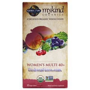 Picture of Garden of Life mykind Organics Women's Multi 40+ Whole Food Multivitamins 60 Veg Tablets