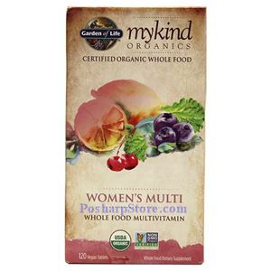 Picture of Garden of Life mykind Organics Women's Multi Whole Food Multivitamins 120 Veg Tablets