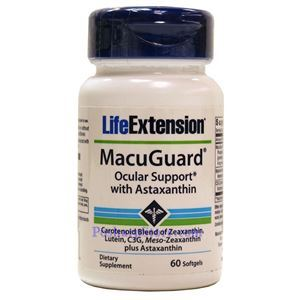 Picture of Life Extension MacuGuard Ocular Support with with Astaxanthin 60 Softgels