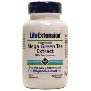 Picture of Life Extension Mega Green Tea Extract (lightly caffeinated) 750 mg  90 Veg Capsules