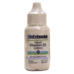 图片 Life Extension牌维生素D3滴剂 2000单位 29毫升