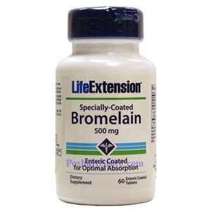 Picture of Life Extension Specially-Coated Bromelain 500 mg 60 Tablets
