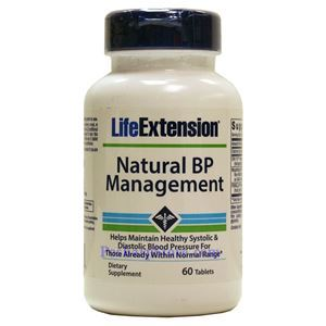 Picture of Life Extension Natural BP Management 500 mg 60 Tablets
