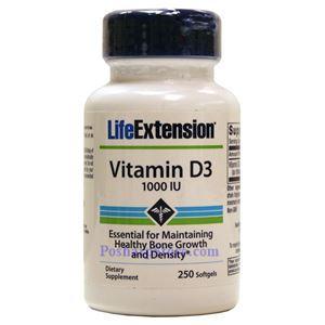 图片 Life Extension牌维生素D3软胶囊 1000单位 250粒