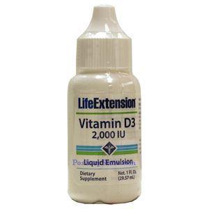 Picture of Life Extension Liquid Emulsified Vitamin D3 2000 IU 1 Fl Oz