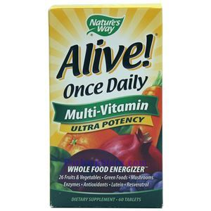 Picture of Nature's Way Alive Once Daily Multivitamin Ultra Potency 60 ablets