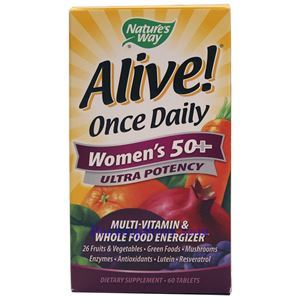Picture of Nature's Way Alive Once Daily Women's 50+ Ultra Potency 60 ablets