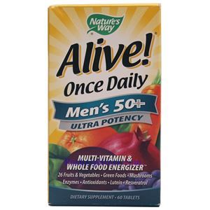 Picture of Nature's Way Alive Once Daily Men's 50+ Ultra Potency 60 Tablets
