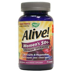 Picture of Nature's Way Alive Once Daily Women's 50+ Gummy Vitamins 75 Gummies