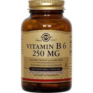 Picture of Solgar Vitamin B6 250 mg 100 Veg Capsules