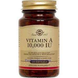 Picture of Solgar Vitamin A 10,000 IU 100 Softgels