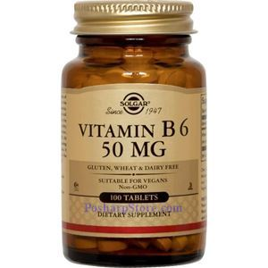 Picture of Solgar Vitamin B6 50 mg 100 Tablets