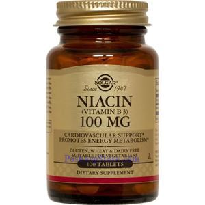 Picture of Solgar Niacin (Vitamin B3) 100 mg 100 Tablets