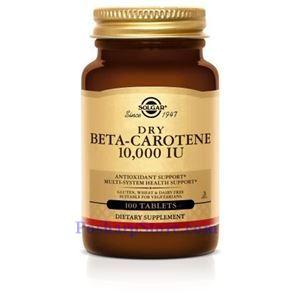 Picture of Solgar Dry Beta Carotene 10,000 IU 100 Tablets