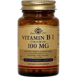 Picture of Solgar Vitamin B1 (Thiamin) 100 mg 100 Vegetable Capsules