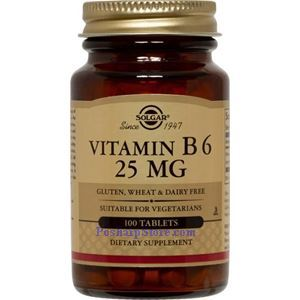 Picture of Solgar Vitamin B6 25 mg 100 Tablets